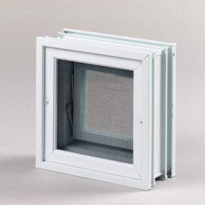 Okienko wentylacyjne 1x1 do pustaków szklanych do luksferów tył