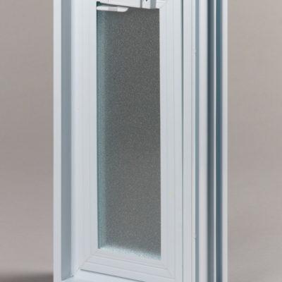 Okienko wentylacyjne 1x2 do luksferów do pustaków szklanych zamknięte