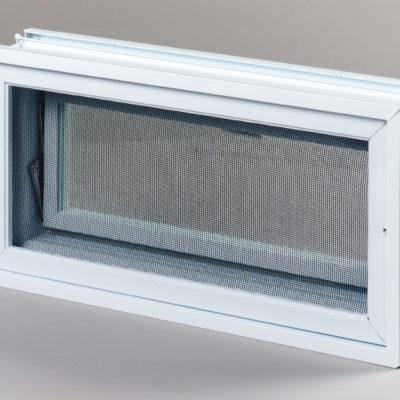 Okienko wentylacyjne 2x1 do pustaków szklanych do luksferów tył