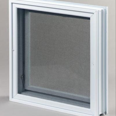 Okienko wentylacyjne 2x2 do luksferów do pustaków szklanych tył
