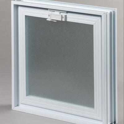 Okienko wentylacyjne 2x2 do pustaków szklanych do luksferów zamknięte